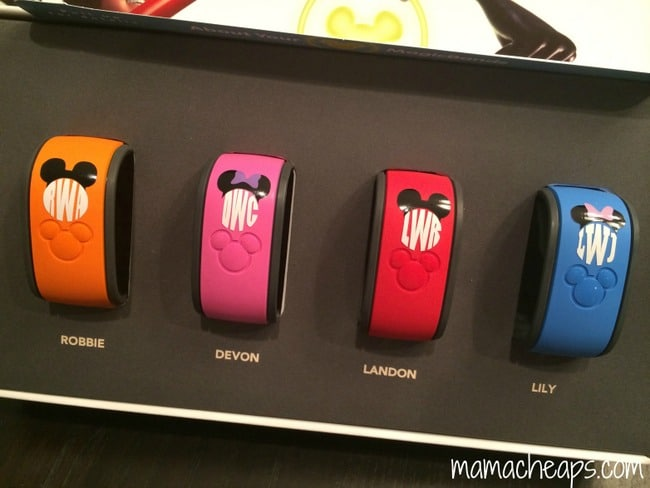 silhouette portrait project personalized disney world magic band monograms