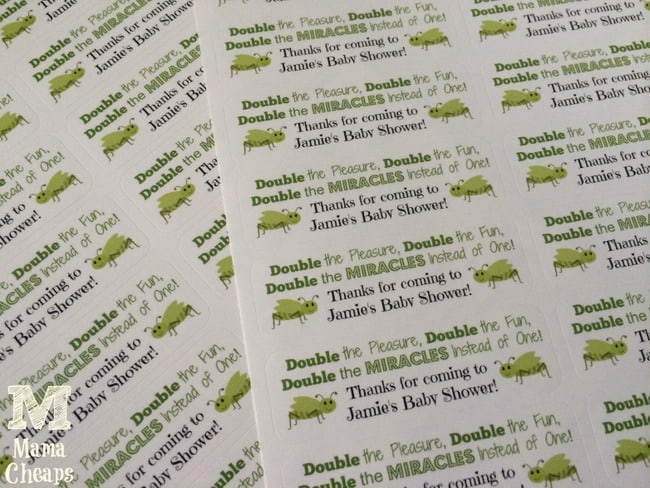 Baby Shower Favors Labels ~ Doublemint gum twin baby shower favors free printable mama cheaps