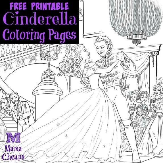 Free printable cinderella coloring pages mama cheaps for Printable cinderella coloring pages