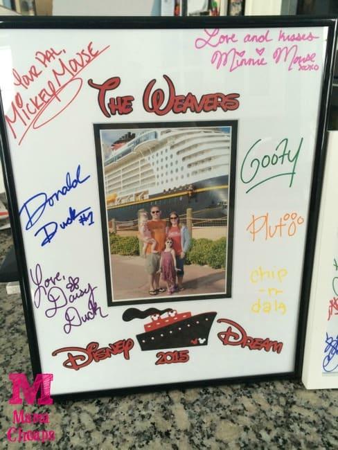 disney cruise personalized photo matte souvenir