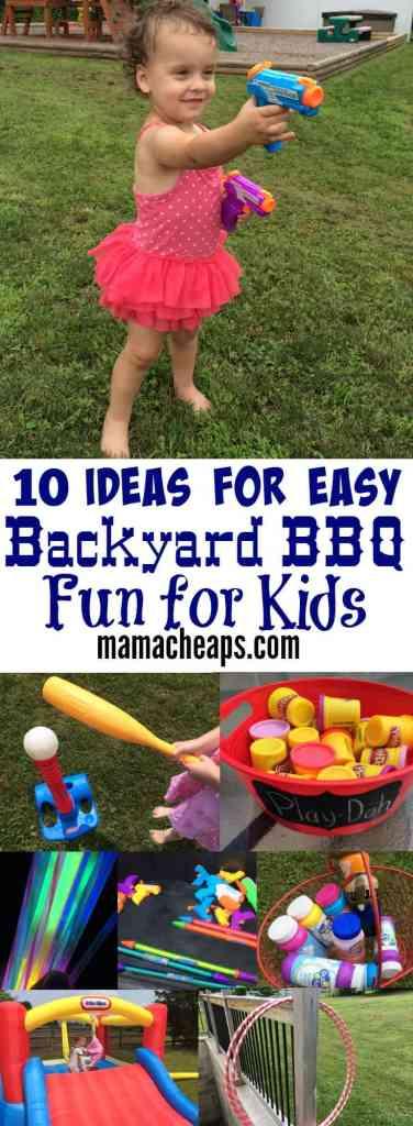 10 Ideas for Easy Backyard BBQ Fun for Kids PIN