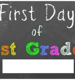 FREE Back to School Printable Chalkboard Signs for First Day of School    Mama Cheaps® [ 2466 x 3066 Pixel ]