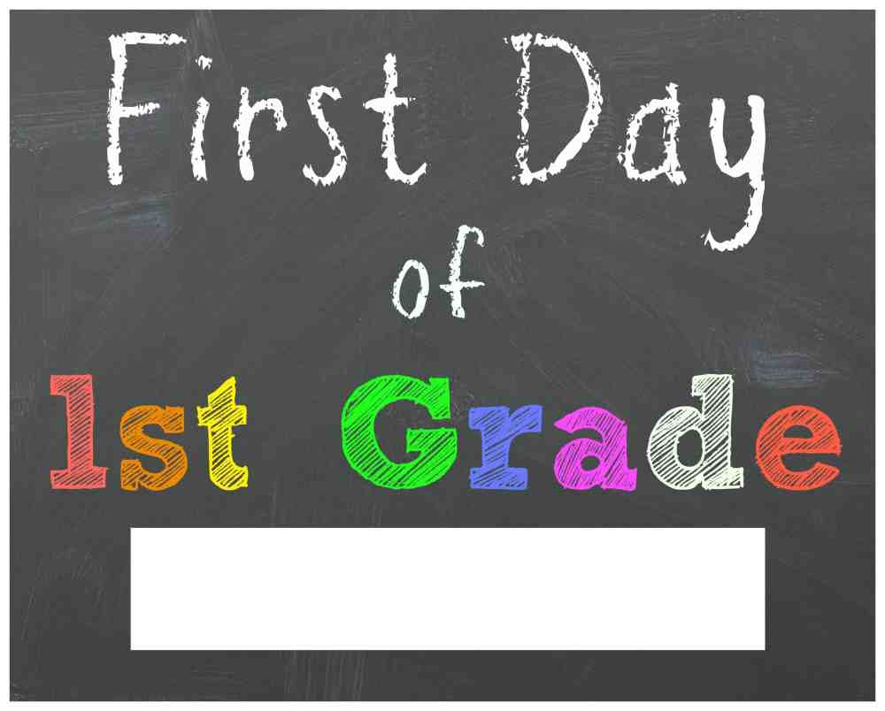 medium resolution of FREE Back to School Printable Chalkboard Signs for First Day of School    Mama Cheaps®