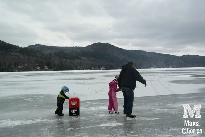 winter fun at lake morey resort in vermont