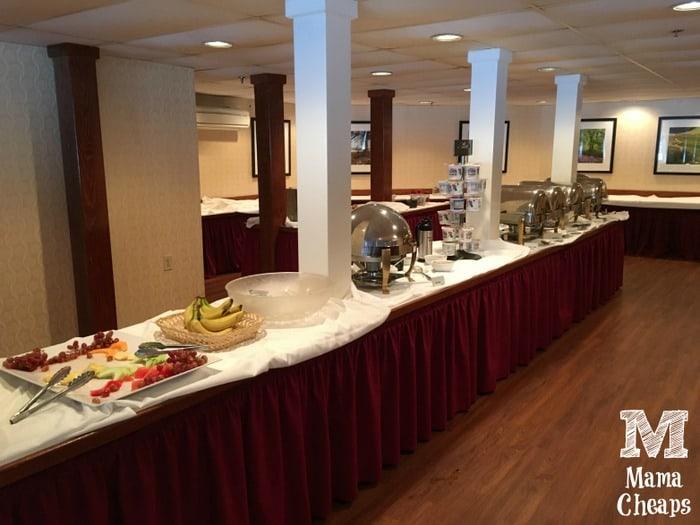 Lake Morey Resort Breakfast Buffet