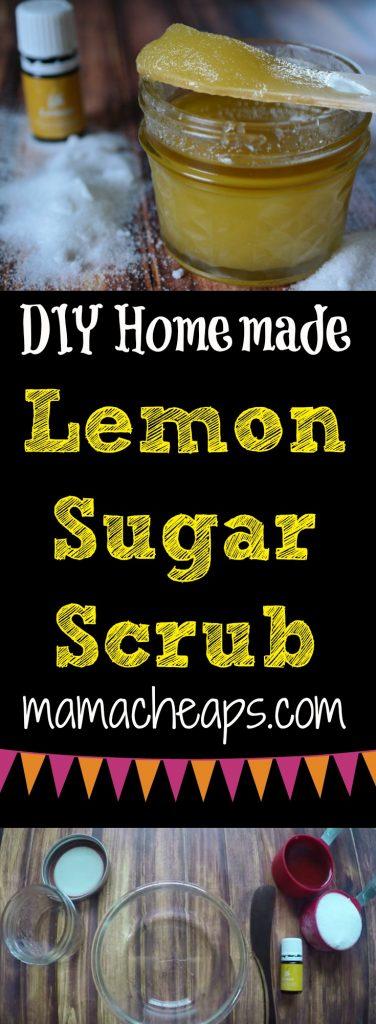 DIY Homemade Lemon Sugar Scrub