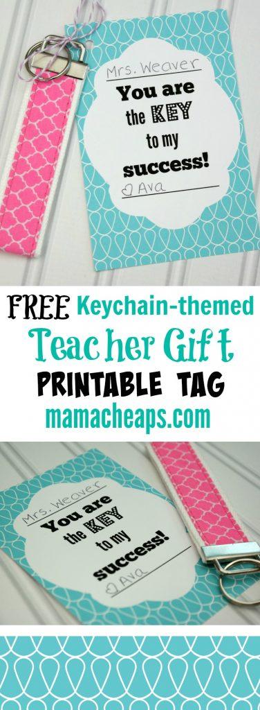 Free Key to Success Teacher Printable Tag