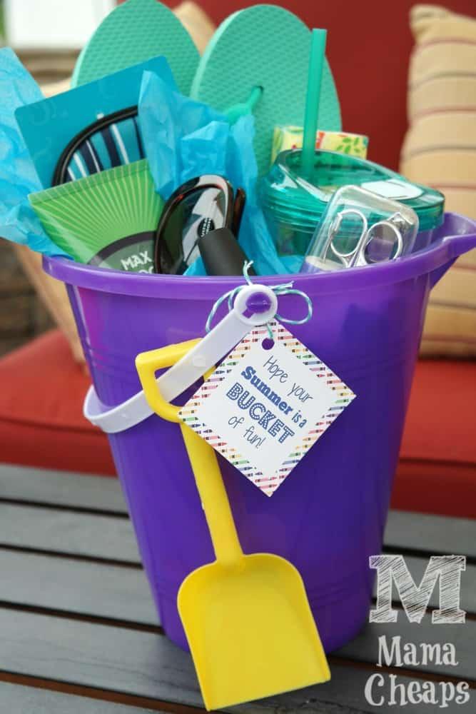 Beach Bucket Teacher Gift