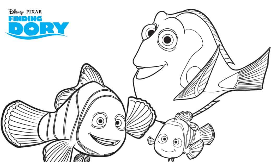FREE Finding Dory Printable Coloring Pages | Mama Cheaps