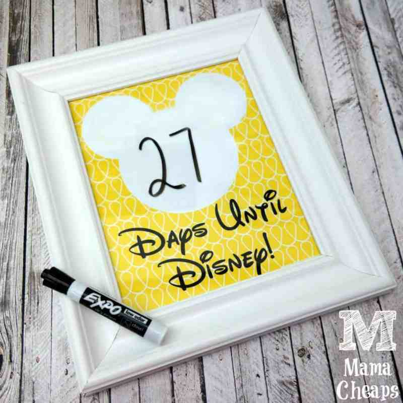 Mickey Mouse Disney Trip Countdown