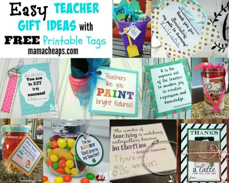 36 easy teacher gift ideas with free printable tags mama cheaps free teacher gift tag printables negle Images