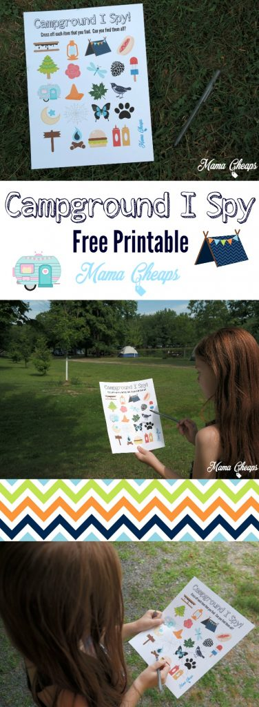 Campground I Spy Free Printable Game