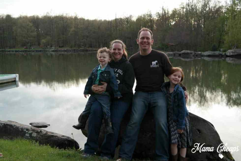 Family at Rocking Horse Ranch Lake