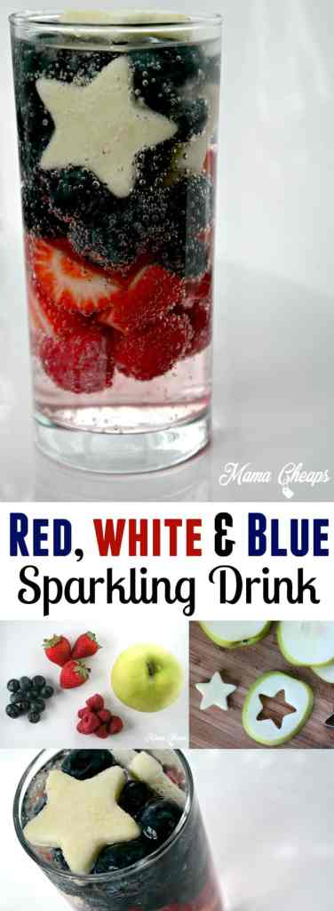 Patriotic Red White and Blue Sparkling Soda Drink