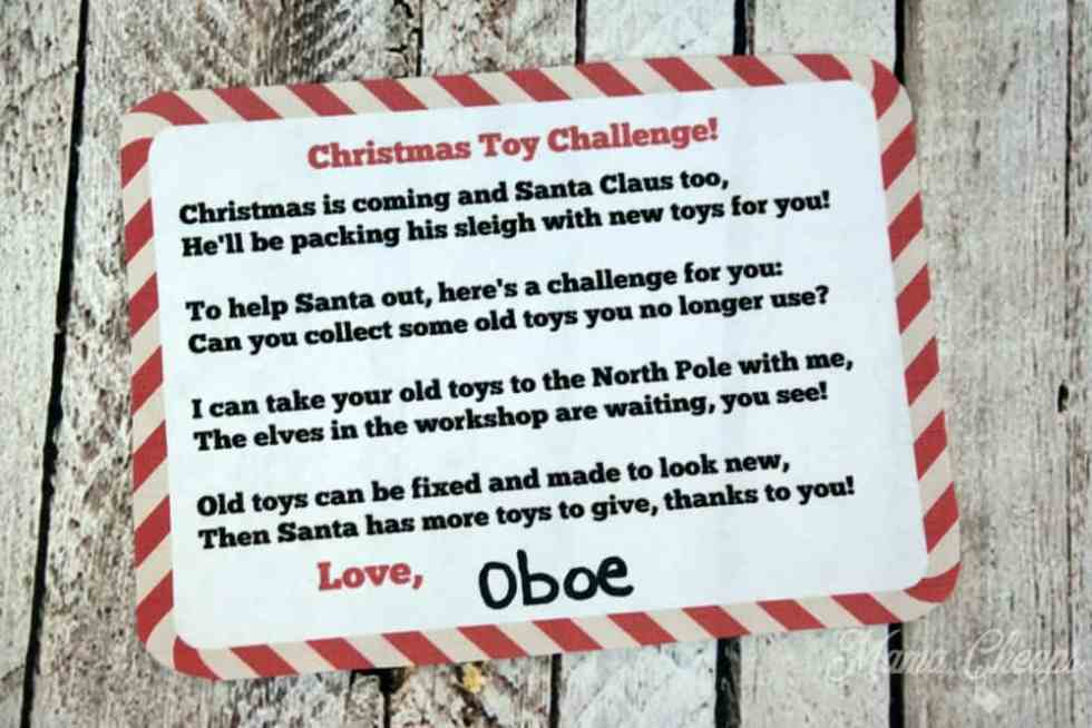 Christmas Toy Challenge Printable