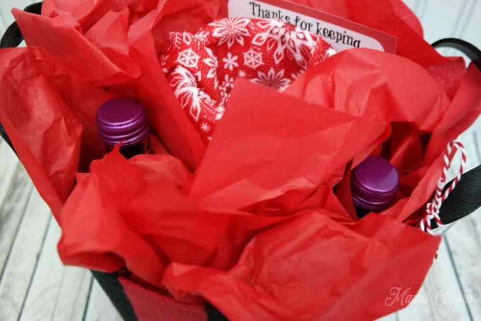 Teacher Wine Basket Gift