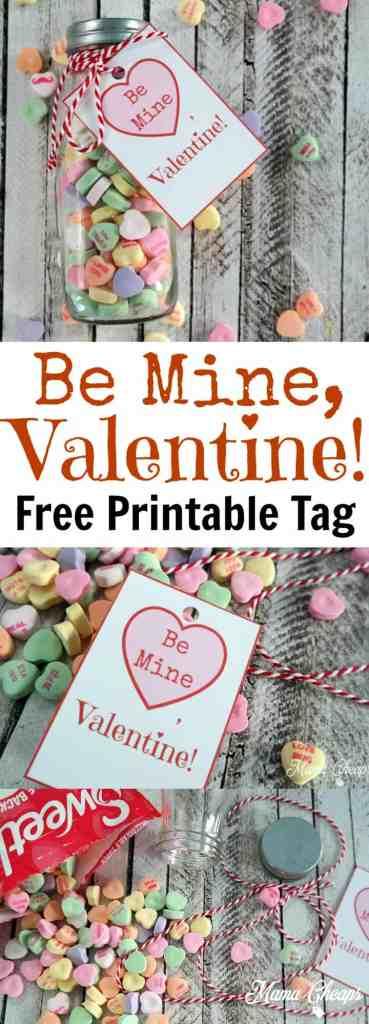 Be Mine Valentine Free Printable Tag