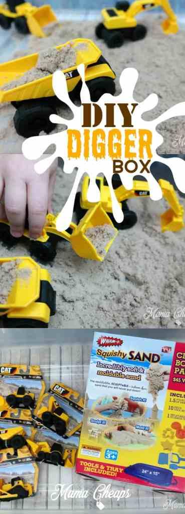 DIY Digger Sand Box