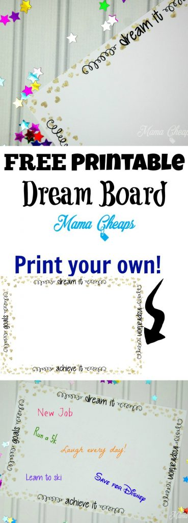 Free Printable DIY Dream Board
