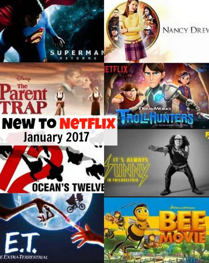 Shows and Movies New to Netflix for January 2017