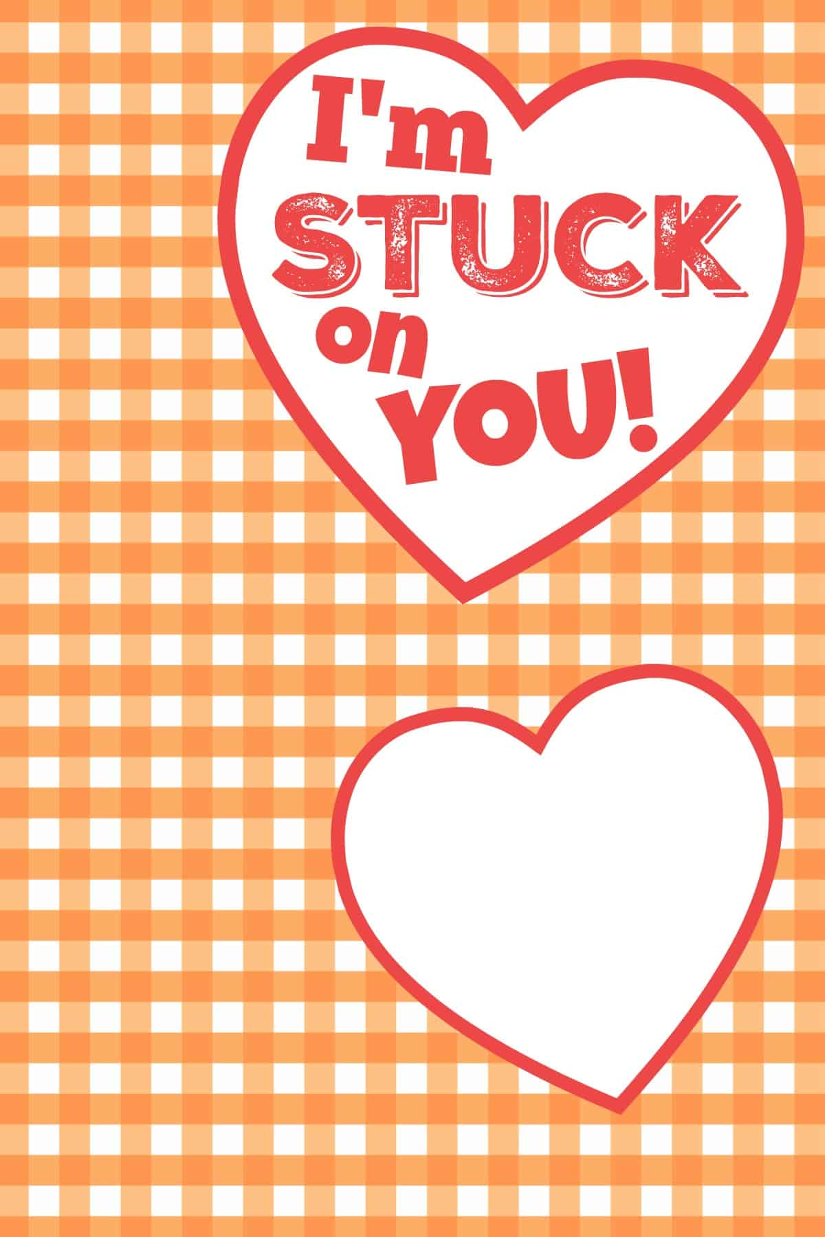 Im Stuck On You Glue Stick Valentine FREE Printable