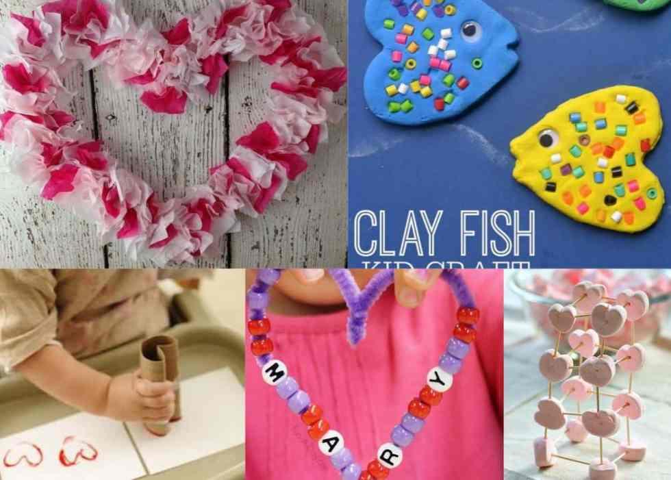 Valentines Day Preschool Crafts Set E