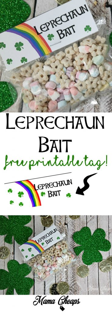 Leprechaun Bait DIY Free Printable Tag