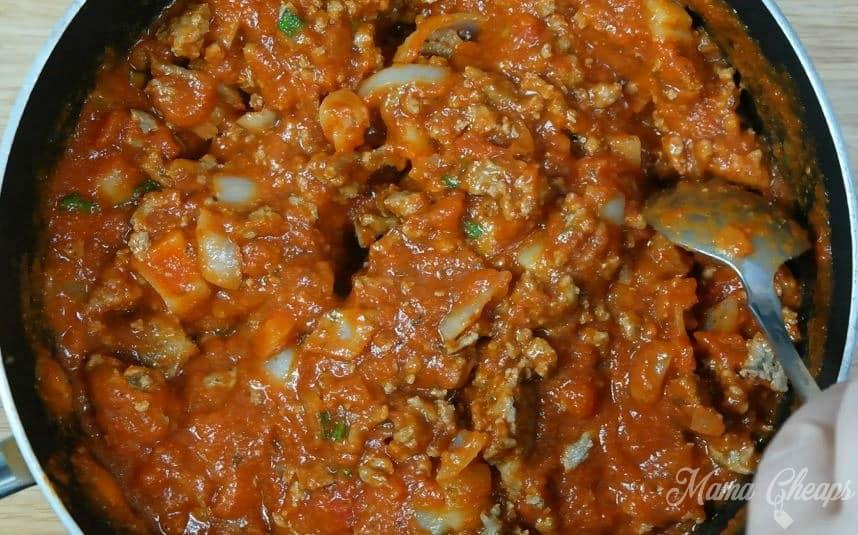 meat mixture lasagna