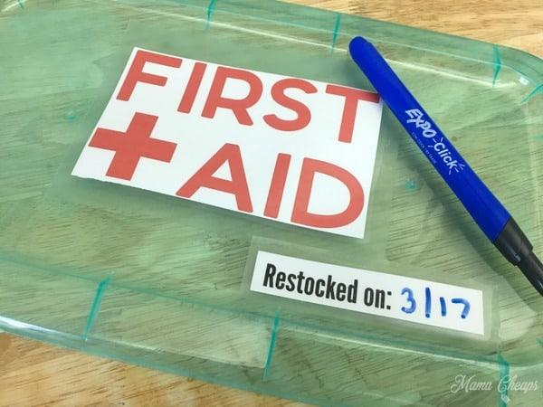 First Aid Box Lid