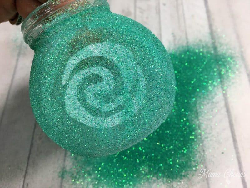 Glitter on Jar