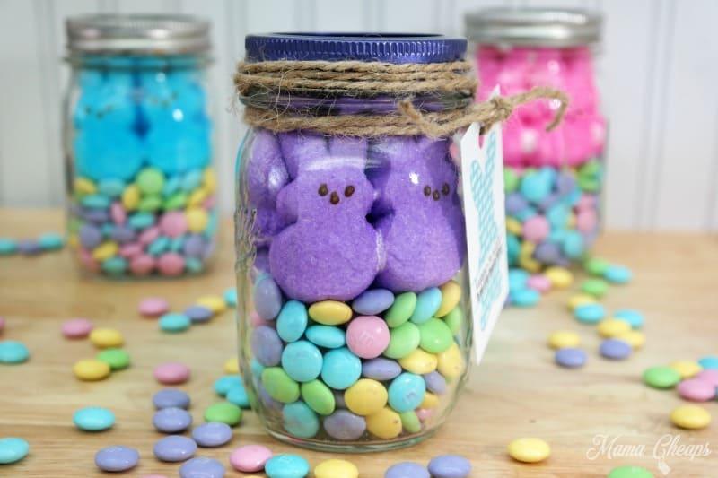 Peeps mason jar gifts free printable tags mama cheaps peeps mms jar negle Image collections