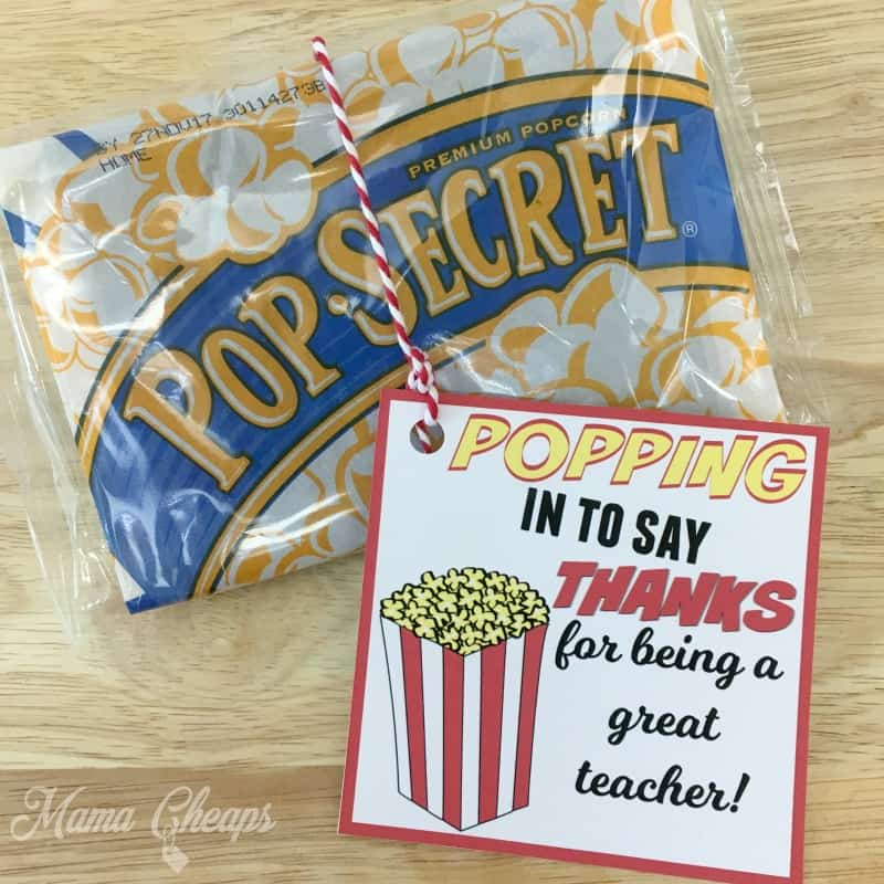 POPPING in to Say THANKS | Popcorn Themed Teacher Gift ...