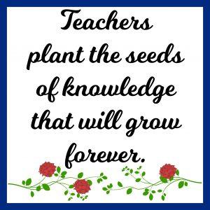Teacher Garden Themed Gift