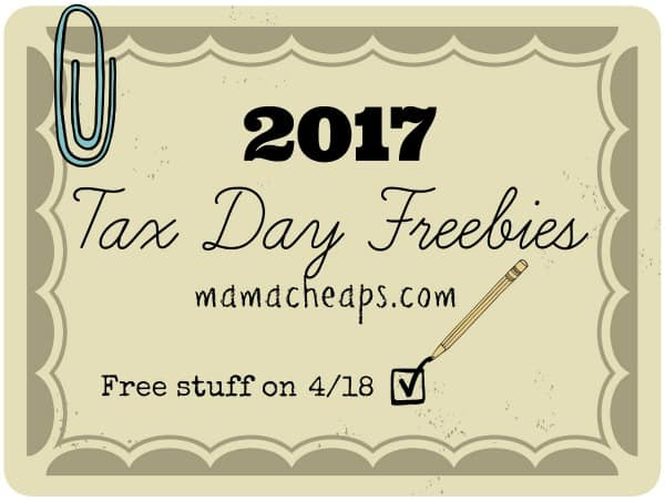 2017 Tax Day Freebies and Discounts