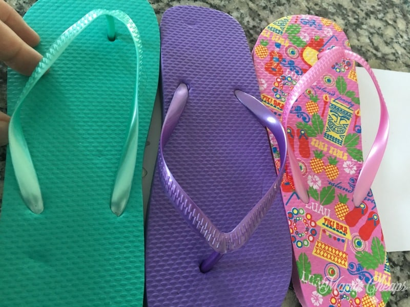 Glued Flip Flops