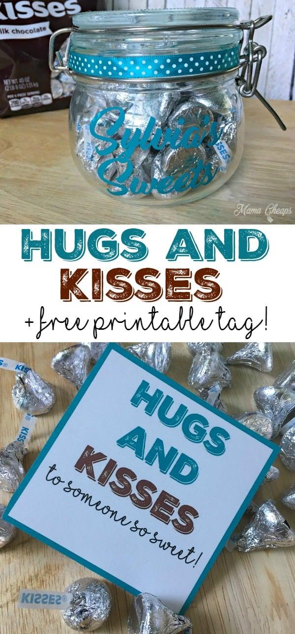 Hugs and Kisses Gift with Free Printable Tag