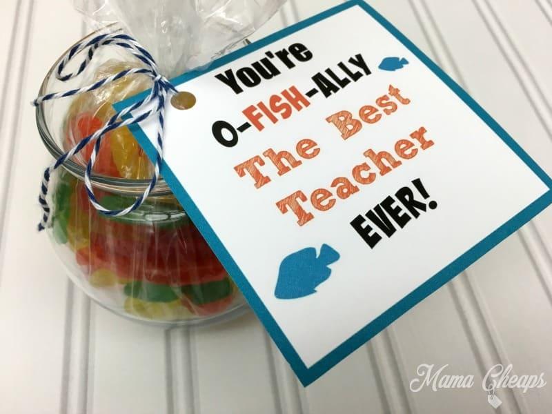 Swedish Fish Teacher Gift Tag