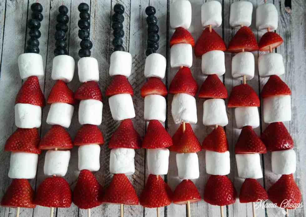 American Flag Fruit Kabob