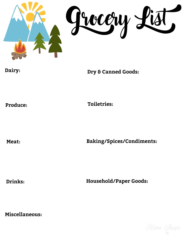 Free Printable Camping Trip Planning Kit - Mama CheapsMama Cheaps