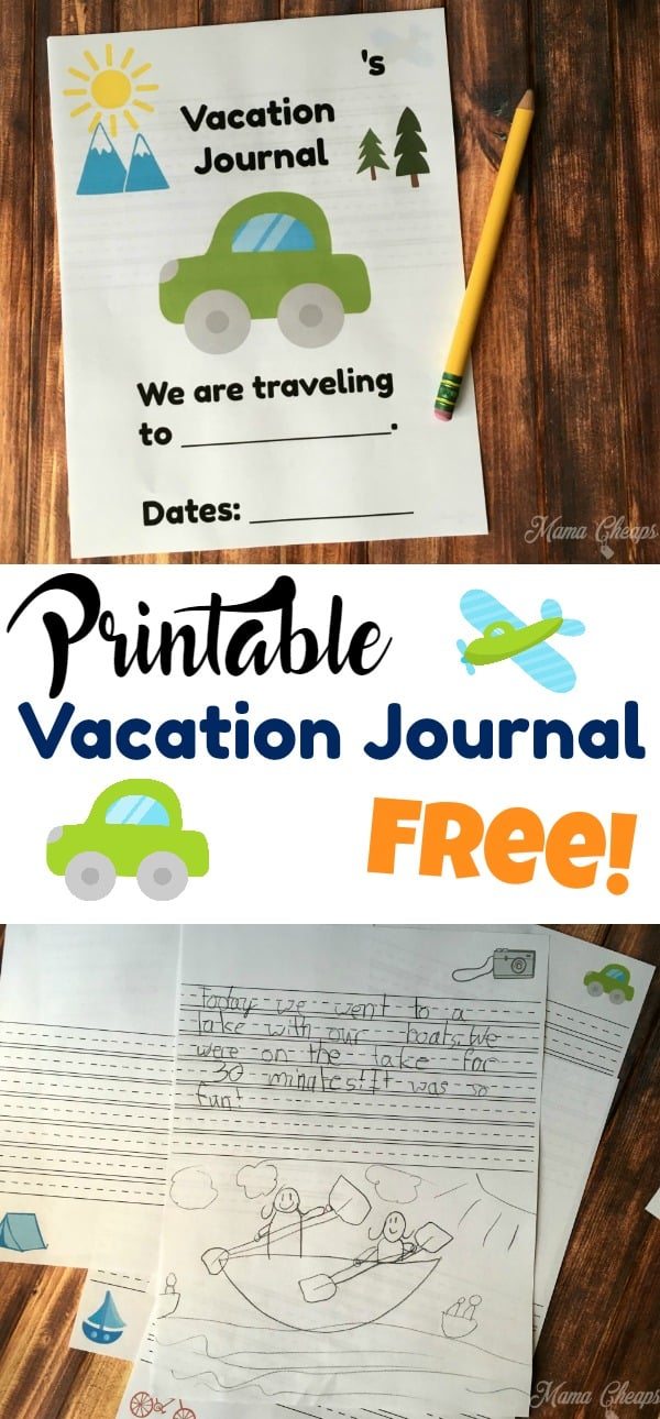FREE Printable Vacation Journal