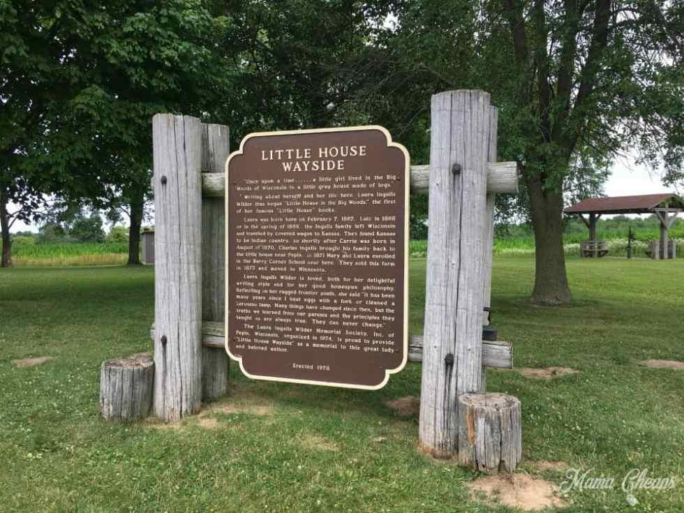 Little House Wayside Historical Marker
