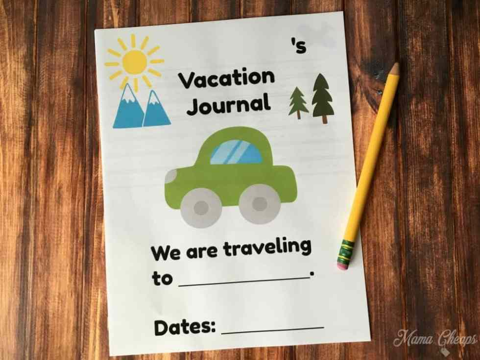 Printable Vacation Journal