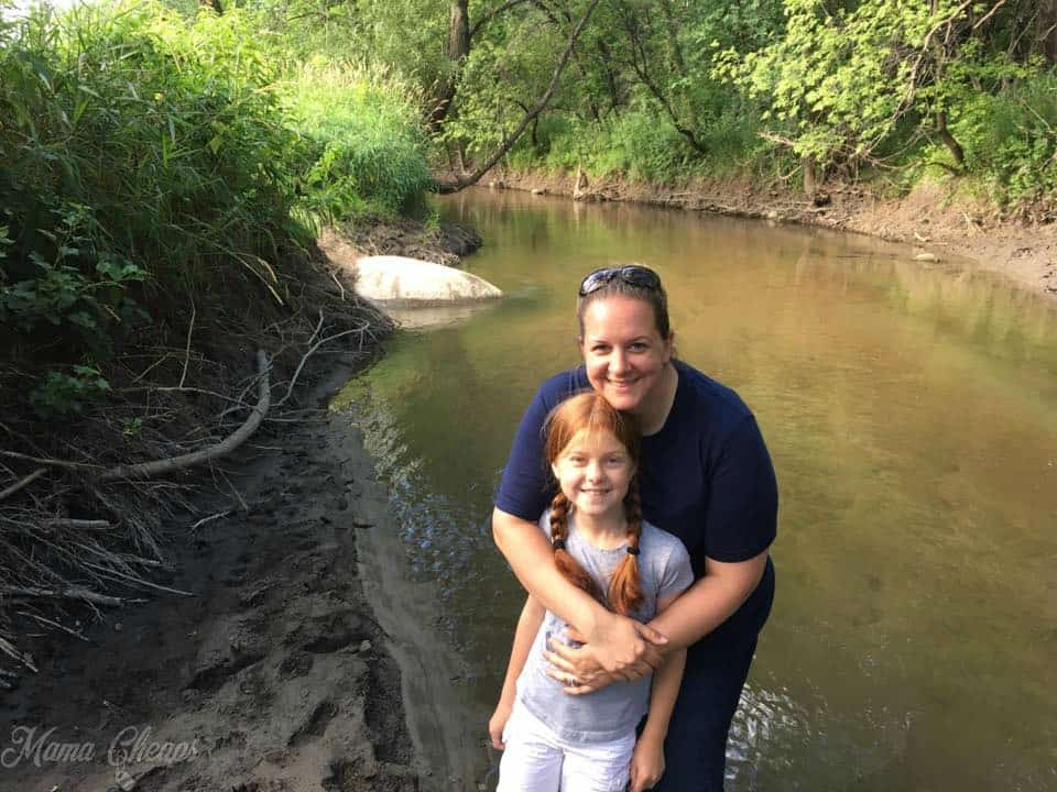 Wading in Plum Creek with Lily