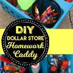 DIY Dollar Store Homework Caddy for Back to School