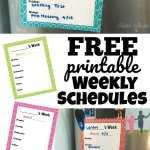 Free Printable Weekly Schedule Set
