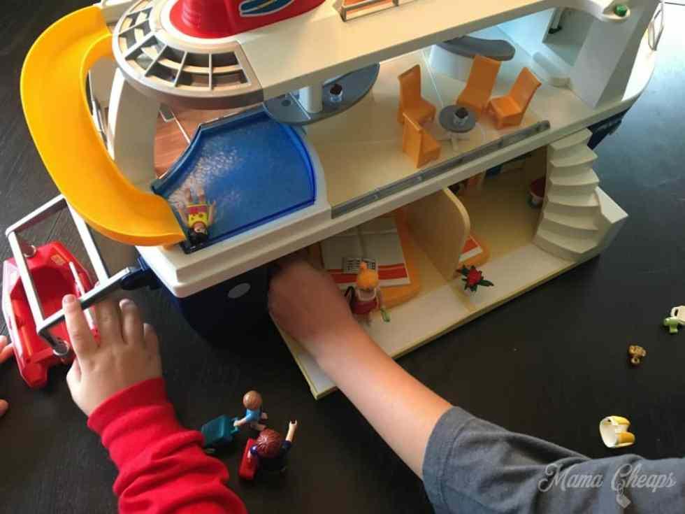 Playing Playmobil Cruise Ship