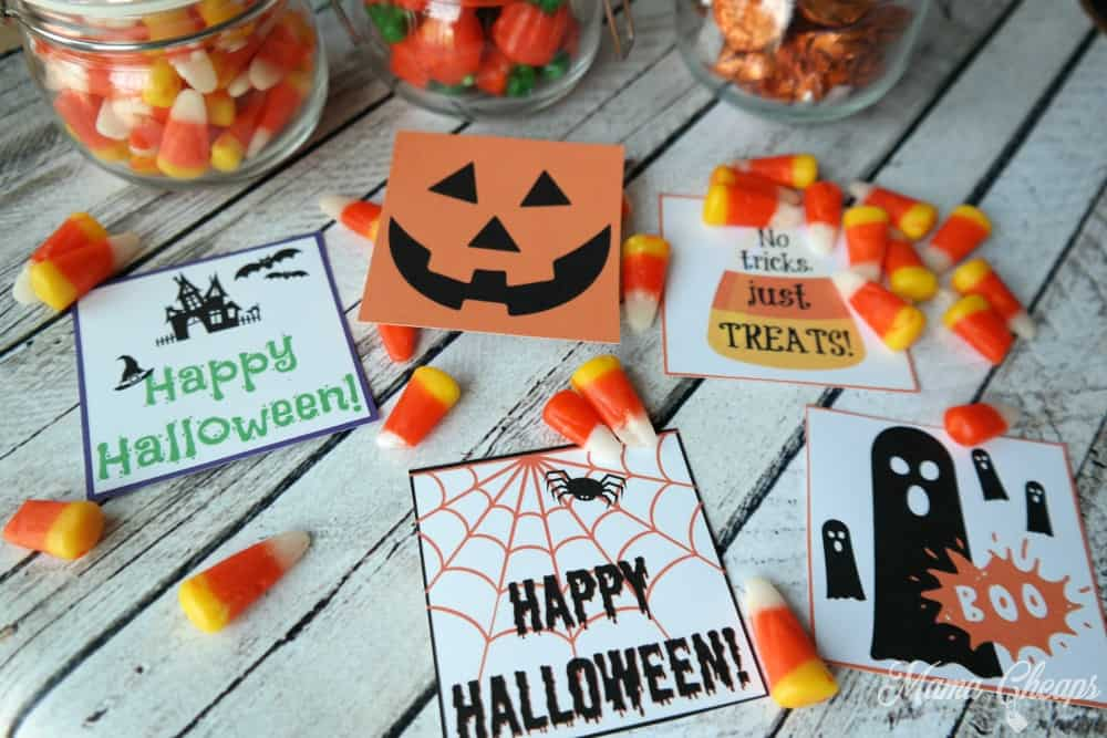Free printable halloween gift tags for candy treats mama cheaps printable halloween gift tags negle Gallery