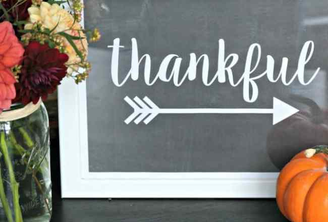 Thankful Printable Sign Square