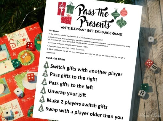 pass the presents white