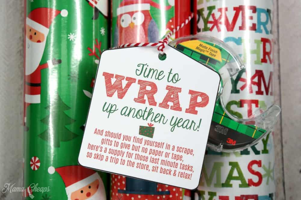 Wrapping paper tape easy last minute gift idea tag mama cheaps easy last minute gift idea solutioingenieria Images